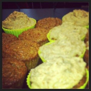 ... Cheese Frosting!!! On top of these super healthified Carrot Cupcakes