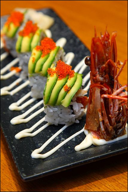 Japanese sushi dragon-roll. | Sushi. | Pinterest
