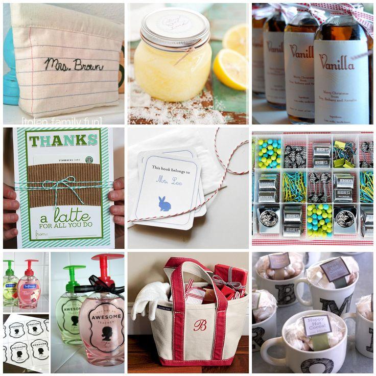 20 teacher gift ideas. Handmade and store bought.