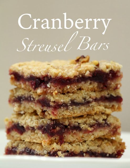 walnut streusel bars recipes dishmaps cranberry walnut streusel bars ...