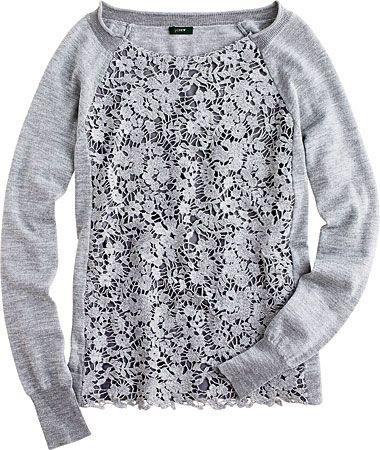 Lace sweatshirt? Yes, please!
