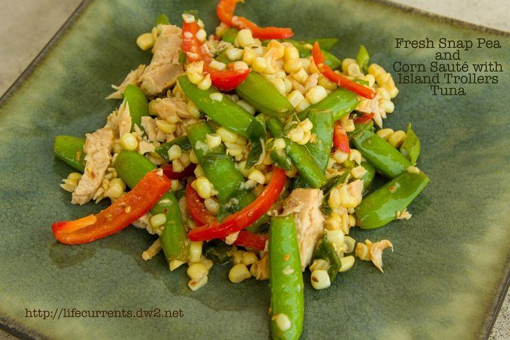 Fresh Snap Pea and Corn Saute with Tuna from Life Currents - Coconut ...