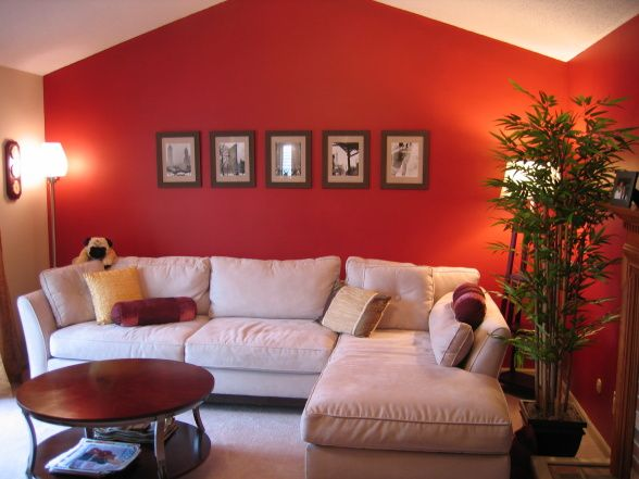great room with red walls living room love pinterest