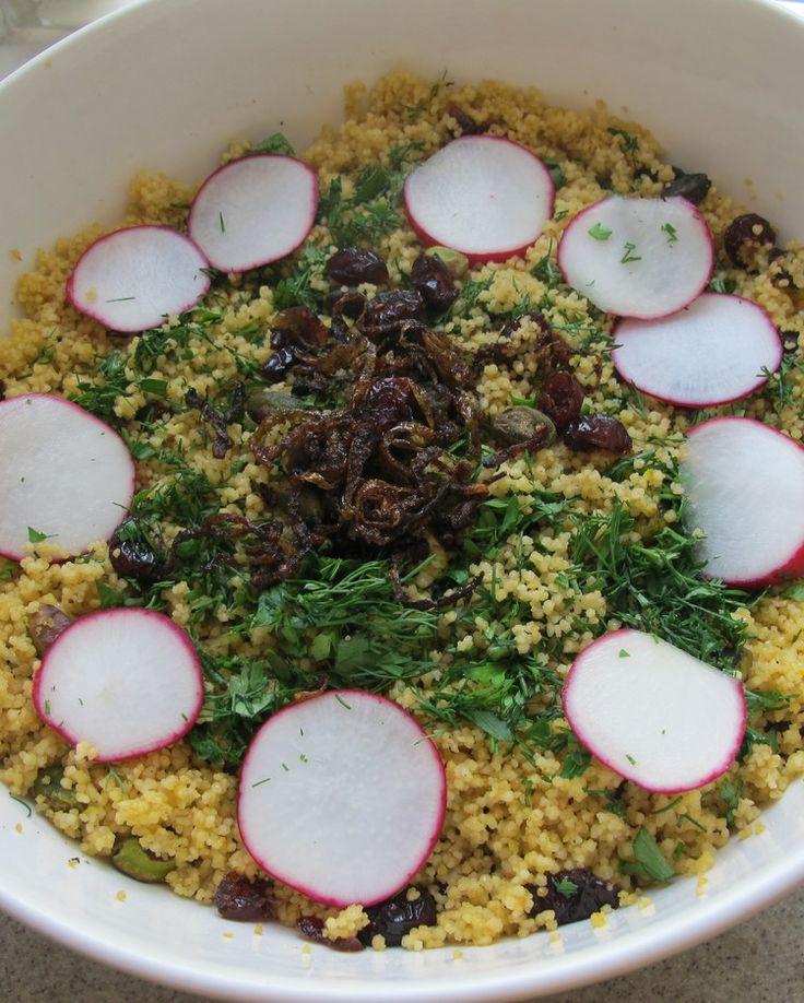 Whole Wheat Couscous With Saffron And Onions Recipe — Dishmaps