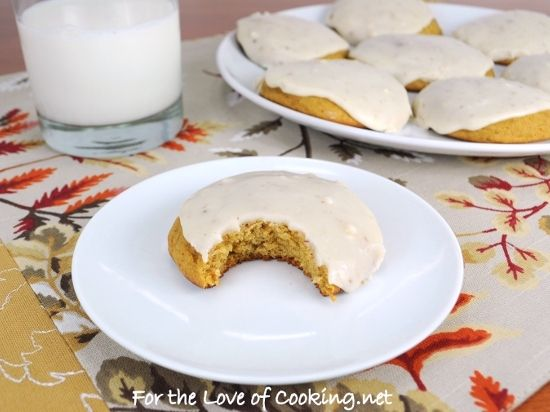 Pumpkin Cookies with Browned Butter Icing... I'm going to make these ...