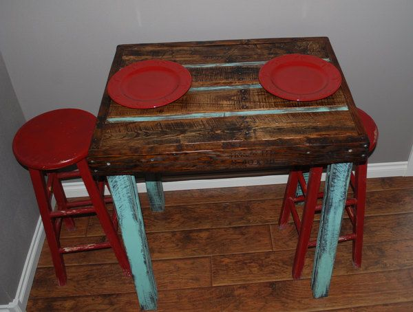 Pallet Wood Dining Table DIY Pinterest