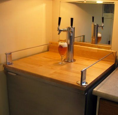 Homemade kegerator home run pinterest for Home bar with kegerator space