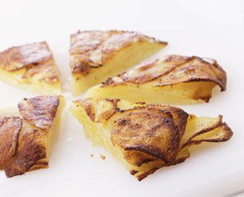 Potato and Parmesan Cake Recipe at Epicurious.com