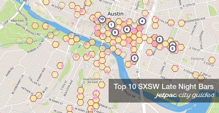 Top 10 SXSW Late Night Bars - not just 6th Street