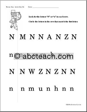 Letter Worksheets: Letter N - preview 1 | Preschool | Pinterest