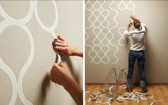 Peel Off Wallpaper Enchanting Of Tear Off Wall Paper Design Images