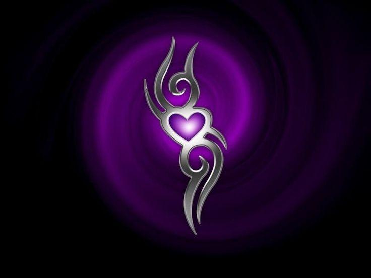 Purple heart silver i love hearts pinterest for Purple and silver wallpaper