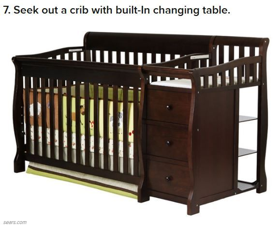 crib changing table boss of the house pinterest. Black Bedroom Furniture Sets. Home Design Ideas