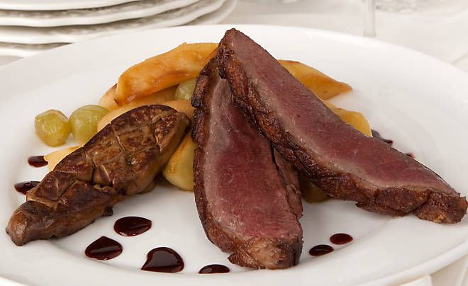 Recipe - Duck Breast with Sauteed Foie Gras & Port Reduction - Duck ...