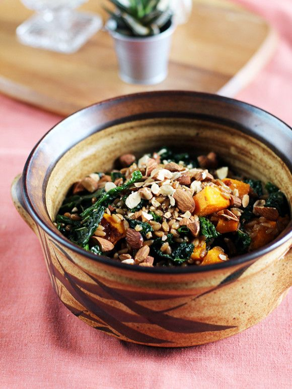 Warm Rye Berry, Roasted Pumpkin & Kale Salad from Eat Your Greens ...