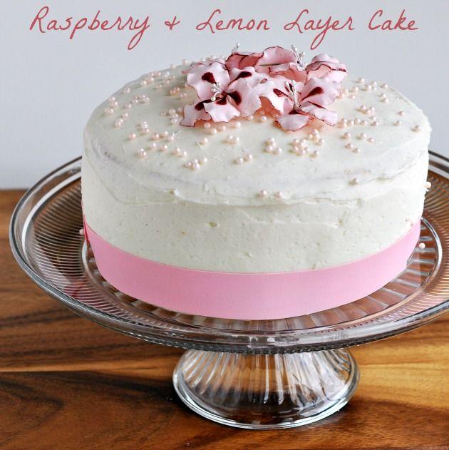 Raspberry and Lemon Curd Layer Cake | Lovely Food | Pinterest