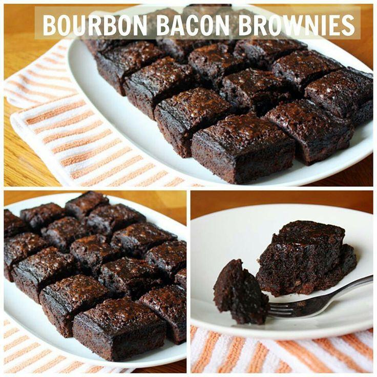 Bourbon bacon brownies