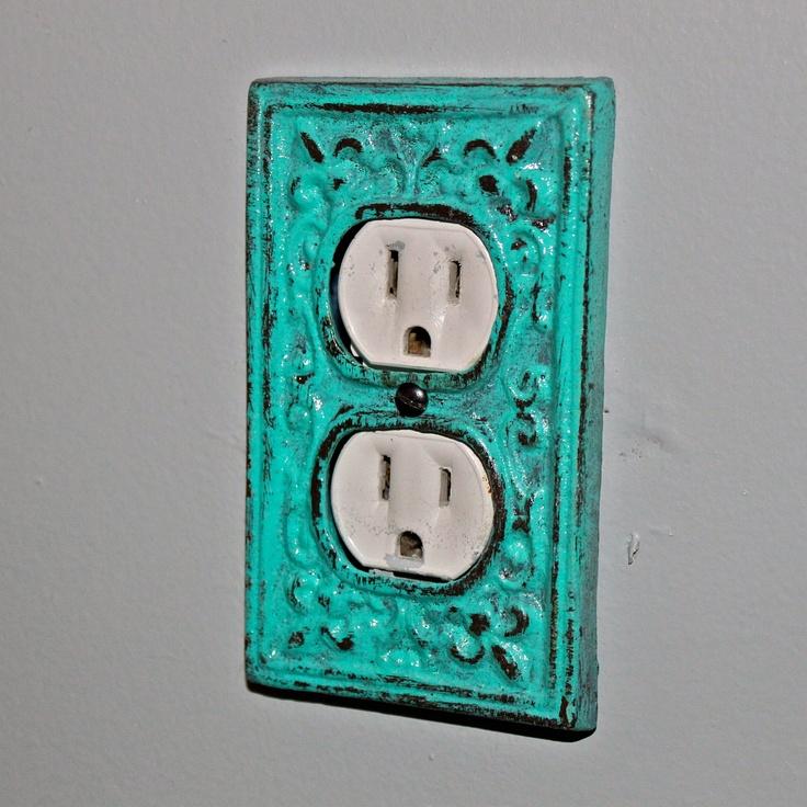 laguna green decorative electrical outlet plate plug in. Black Bedroom Furniture Sets. Home Design Ideas