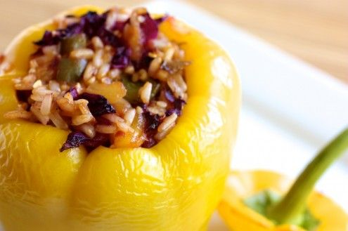 Sweet and Sour Stuffed Pepper | Yum Yum Yum | Pinterest