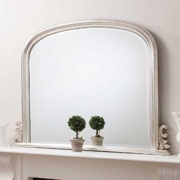 regency overmantel mirror silver 250