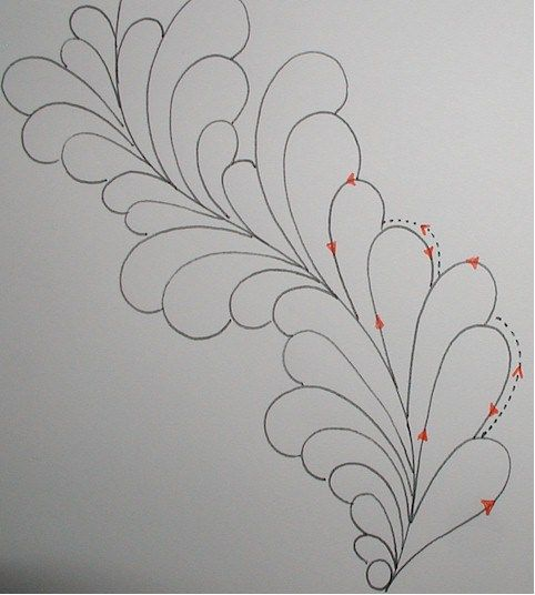 Long Arm Quilting Pattern Boards : feather2 Long arm quilting designs Pinterest