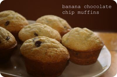 Banana chocolate chip muffins | sweets | Pinterest