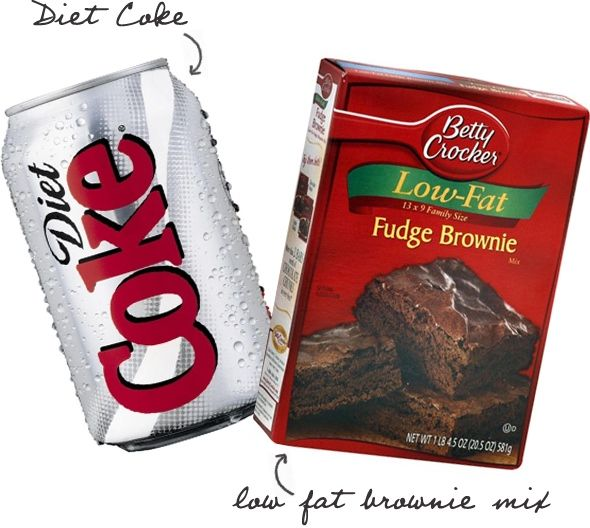 Diet Coke Brownies   Servings: 18    Serving Size: 1 brownie   Calories: 115  Fat: 2 g    Carbs: 25 g    Fiber: 0.5 g  Protein: 1 g    Points+: 4 pts
