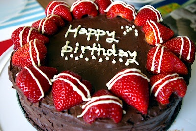 Strawberry Celebration Cake | 23 - Cakes: Strawberries | Pinterest