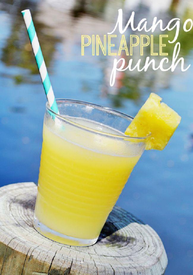 Mango Pineapple- 6 oz orange pineapple juice;, mango rum; splash of ...