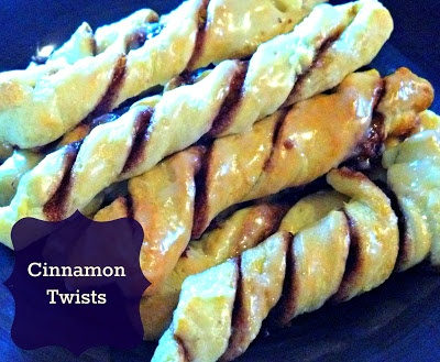 cinnamon twists--sweet and easy treat @ crazyloucreations