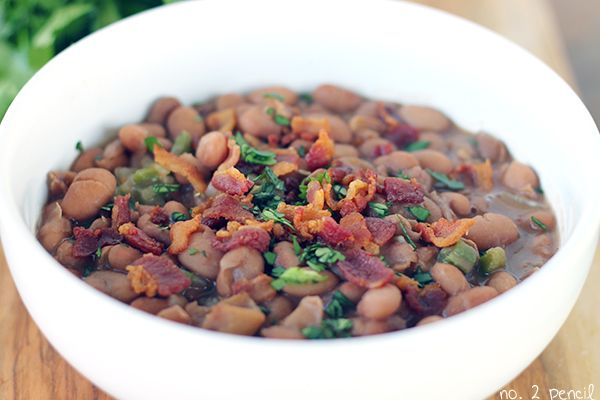 Homemade Mexican-Style Beans with Bacon and Jalapeno