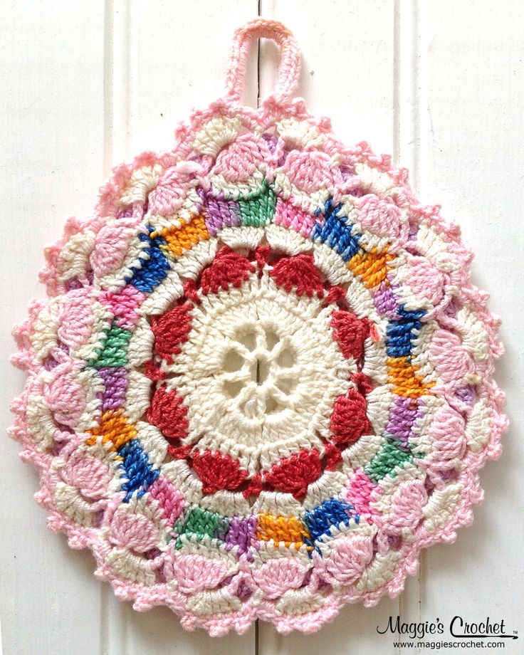 Crochet Patterns Vintage Potholders : collection of over 300 potholders. Over 100 crochet potholder patterns ...