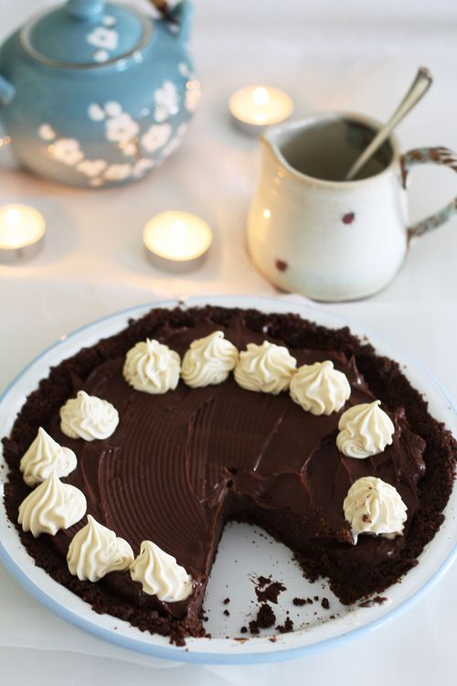 Double chocolate tart | Food | Pinterest