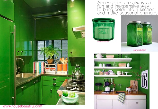 Emerald Green in the kitchen  Kitchen Ware And More  Pinterest