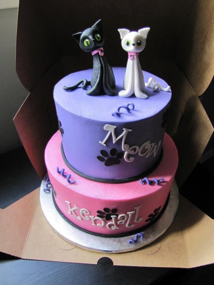 Cat Birthday Cake!  Meow  Pinterest