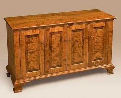 entertainment center console tiger maple furniture