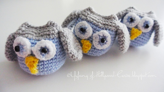 Crochet Tutorial Owl : Crochet owls by Hollywood Cerise from the pattern by Repeat Crafter Me ...