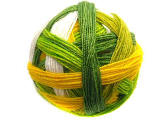 Tangy SelfStriping Sock Yarn in Key Lime Pie by TwistedLimoneDesigns - new 01.06.13