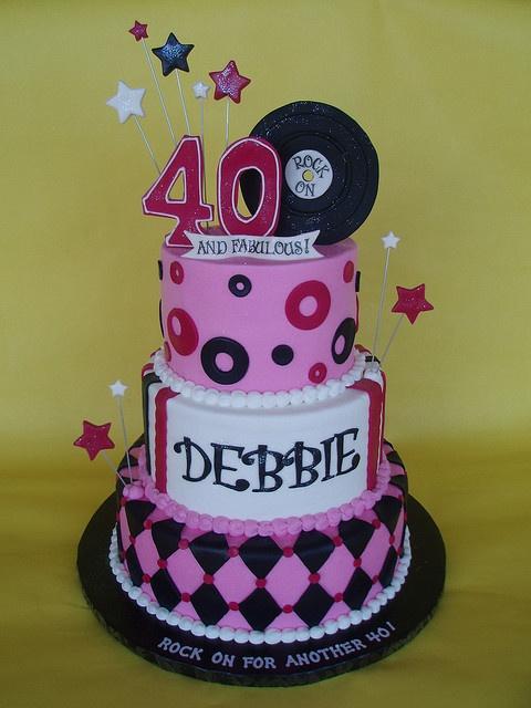 40 rocks cakes My 40th Birthday Party Ideas Pinterest
