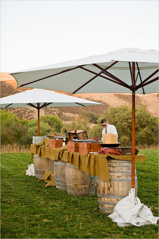 Rustic Backyard Bars : rustic outdoor buffet catered by The Inn Tres Pinos  when my dreams