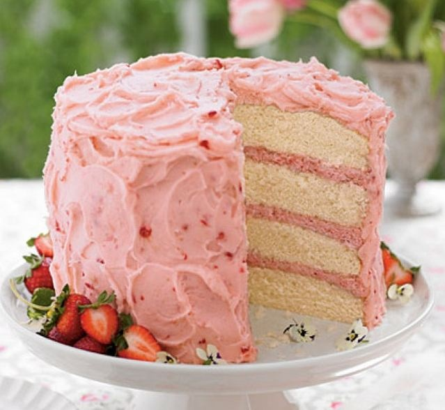 Strawberry Mousse Cake | Let them eat Cakes..... | Pinterest