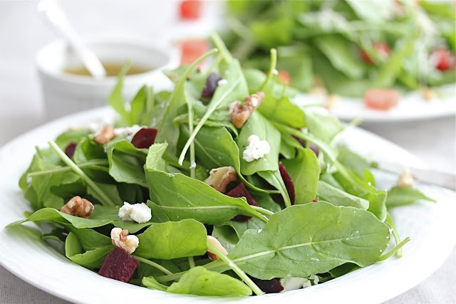 ... and Roasted Beet Salad with Goat Cheese and Lemon Olive Oil Dressing