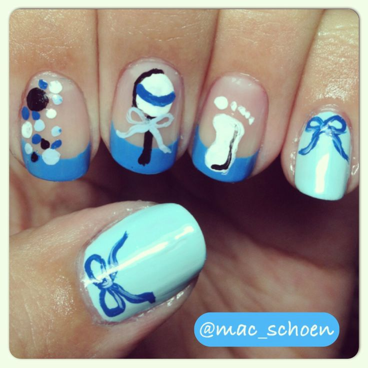 By ashley spitza on baby shower nail art boy or girl pinte