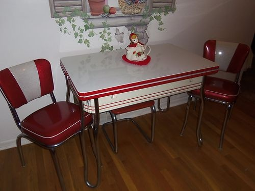 retro 50 39 s style kitchen table w chairs