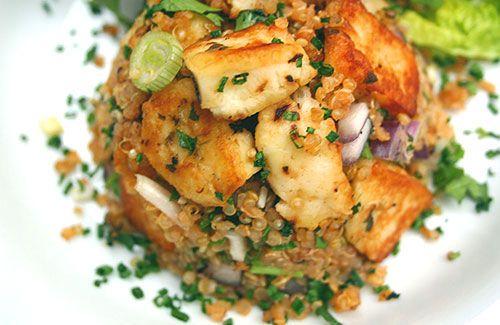 Halloumi and quinoa warm salad. Use organic preservative and additive ...