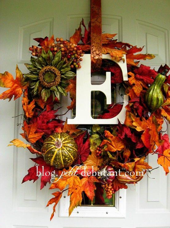 Initial Fall Wreath