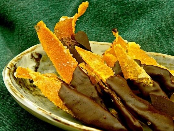 Chocolate dipped candied orange peel | Sweet Treats | Pinterest