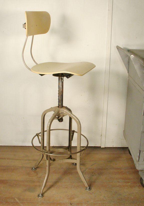 Vintage drafting stool