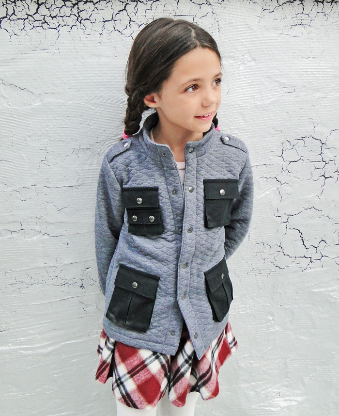 Mairi Gray Utility Jacket by A for Apple