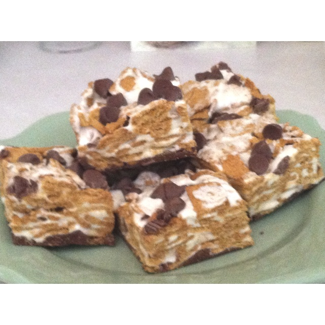 ... Golden Graham S'more Bars! Boys said better than real S 'mores